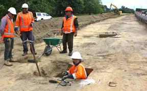 Excavation underway after potential defensive trench from 1800s found near State Highway in Tauranga