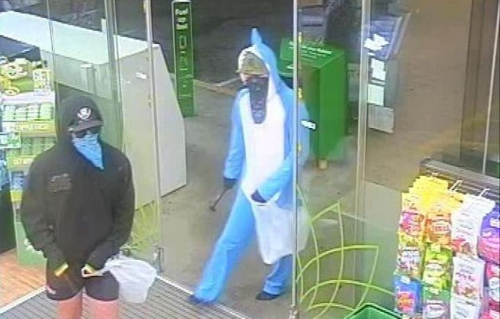 Police said the men held up a 0 petrol station in Rolleston.