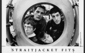 A black and white portrait of the band Straitjacket Fits.