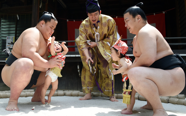 A competition last month at the Yukigaya Hachiman shrine in Tokyo.