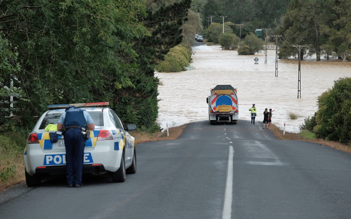 Flooding in South Auckland between Hunua and Clevedon.
