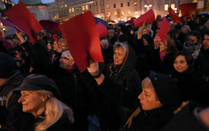 Thousands gathered in Krakow, Poland for the International Women Strike March.