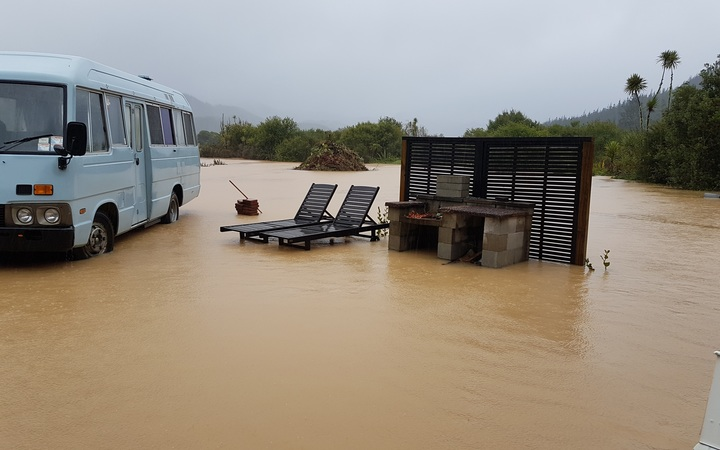Flooding in Neil Lamb's Coromandel home