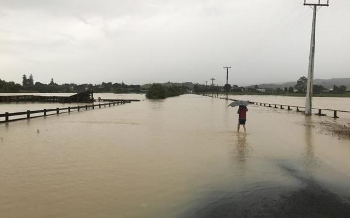 Flooding in Clevedon, Auckland, on Wednesday.