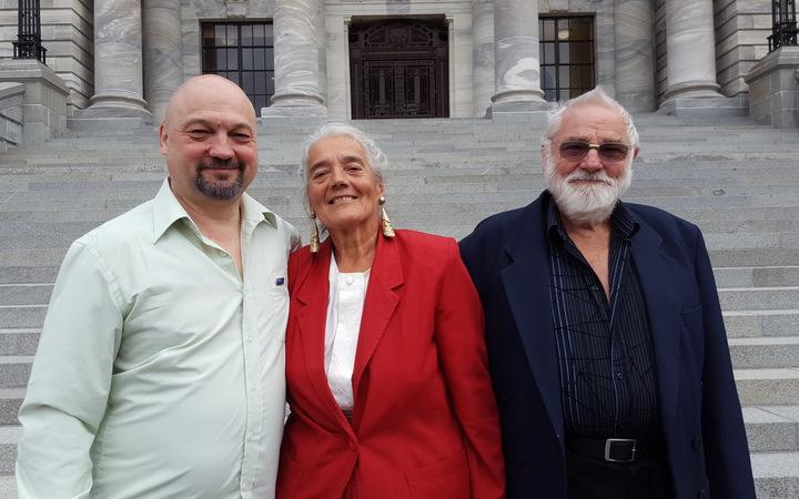 From left, Mikael Aldridge, with parents Beverley and Owen Aldridge.