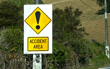 Accident area in the Wellington region.