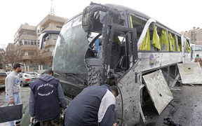 The attacks are said to have targeted Shia pilgrims arriving by bus.