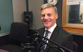 Bill English in the Auckland studio