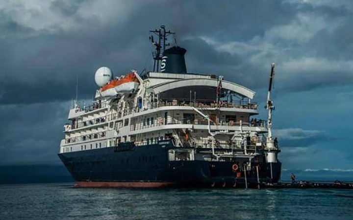 British cruise ship CRASHES into protected coral reef off Indonesia