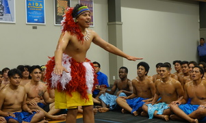 St Peter's College Samoan group performing at their fiafia night.