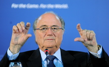 FIFA President Joseph Blatter in Cape Town, South Africa, 2009.