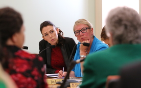 Jacinda Ardern & Ruth Dyson listen to the Abortion Supervisory Committee Report