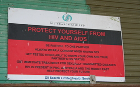 Oil Search-sponsored HIV AIDS awareness message in Papua New Guinea's Highlands.