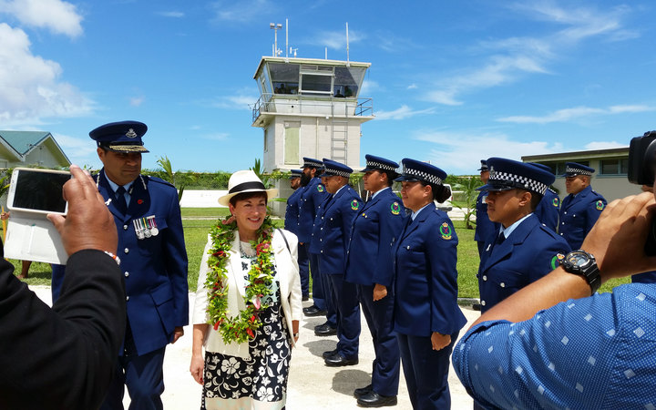 Governor General Dame Patsy Reddy in Niue.