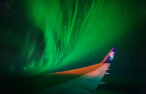 "Photos of the Aurora Australis taken on the ""Flight to the Lights"" trip towards Antarctica."