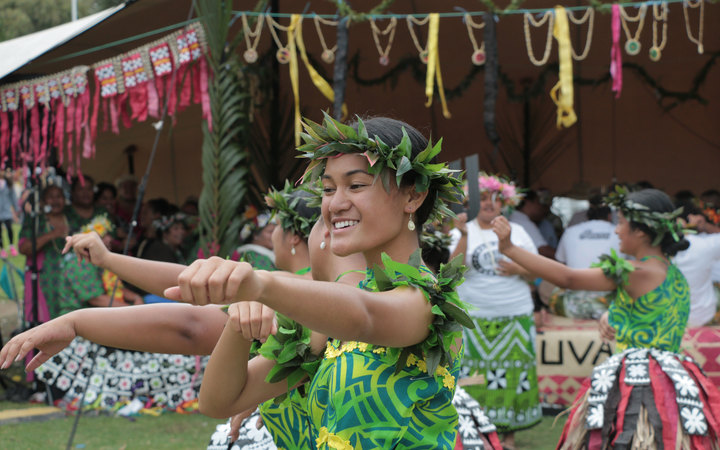 Dancers from Tuvalu.