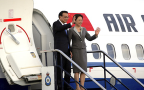 Chinese Premier Li Keqiang and his wife Cheng Hong.