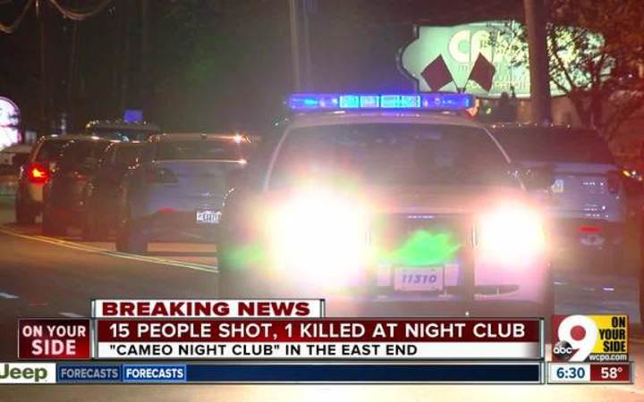 One person is dead and 15 injured after a shooting at the Cameo Nightlife in Cincinnati, Ohio.