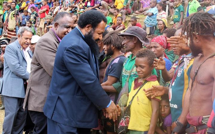 PNG Opposition Leader, Don Polye, at Maramuni
