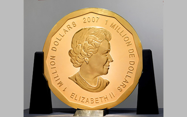 "The giant Canadian coin, known as the ""big maple leaf"" was stolen from the Bode Museum in Berlin"