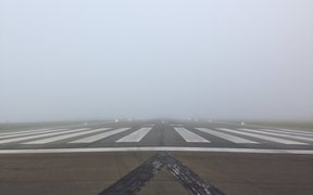 All flights at Wellington Airport have been suspended due to fog.