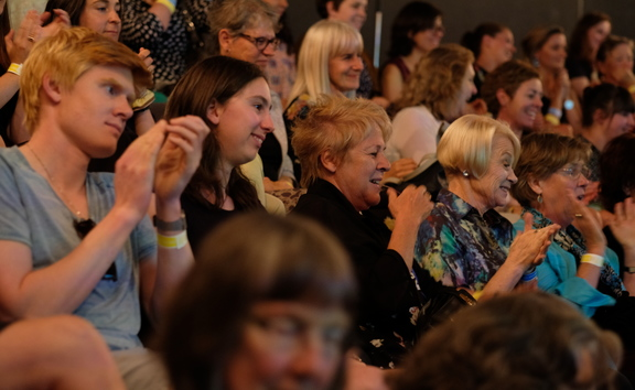 The audience at the RNZ/City Gallery Wellington Aging and Agency panel discussion