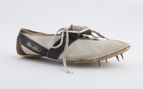 A shoe Peter Snell wore when he won gold at the 1960 Olympics in Rome.