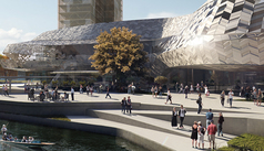 A concept image for the Convention Centre Precinct on CCDU's website.