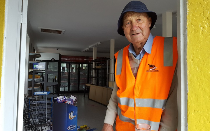 Former owner of the Kowhai Park Dairy John Churton has been helping clear out the business for its new owner.