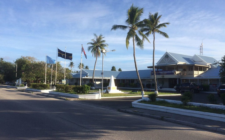 The Parliament building in Nauru.