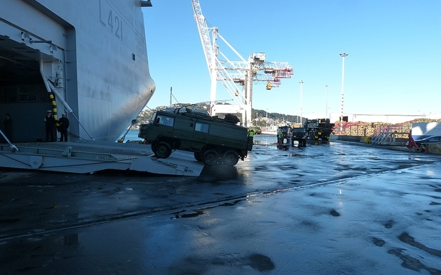 The 'Canterbury' is loaded in Wellington in preparation for Talisman Sabre.