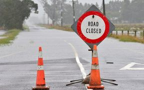 Floodwaters around Whakatane.