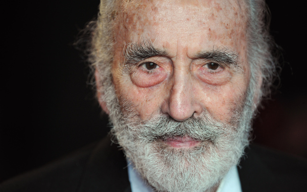 Christopher Lee, pictured in 2012.