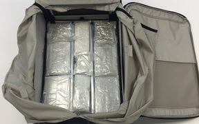 Customs has found a large amount of MDMA hidden in suitcases at Christchurch International Airport. The date the drugs were found was not clear.