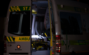 A St Johns ambulance on the scene of fires in the Hawkes Bay. 14 February 2017.