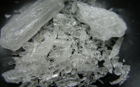 macro shot of Crystal Methamphetamine