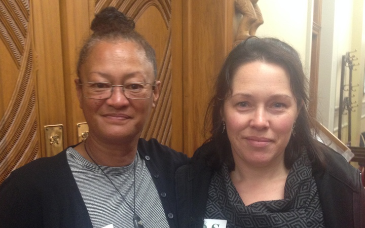 Marion Davey, right, and Audrey Tamanui-Nunn made submissions to the select committee.