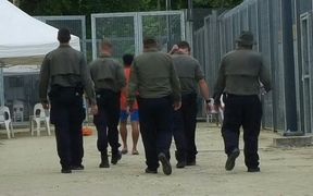 Detention centre guards on Manus Island.