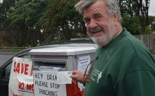 Moturoa resident Tom Waite is worried about how the loss of the St Aubyn Street post box will affect his elderly neighbours.