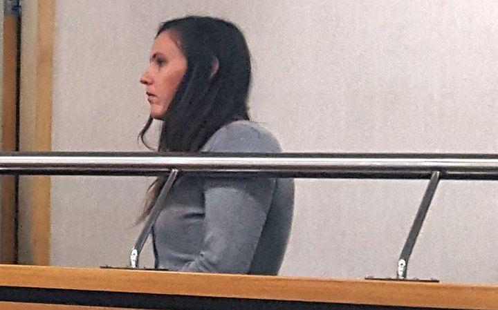 Megan Walton in the Hamilton District Court.