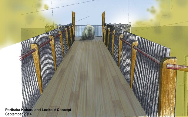 An artist's impression of the new lookout.