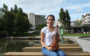Violin student Rachel Twyman organised a petition and a concert protesting job cuts