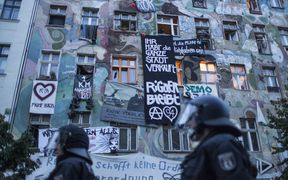 Protests against evictions in Berlin, 2016.