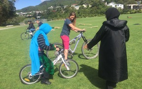 Women's cycling day at Karori Park