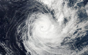 NASA took this image of Cyclone Cook moving past New Caledonia.