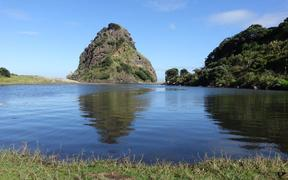 Piha Lagoon and Lion Rock