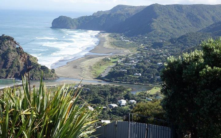 A view of Piha Lagoon and North Piha Lagoon and stream