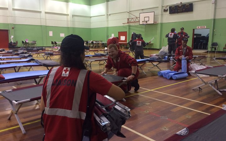 About 70 beds are being set up in the Whakatāne Memorial Hall for Cyclone Cook evacuees.