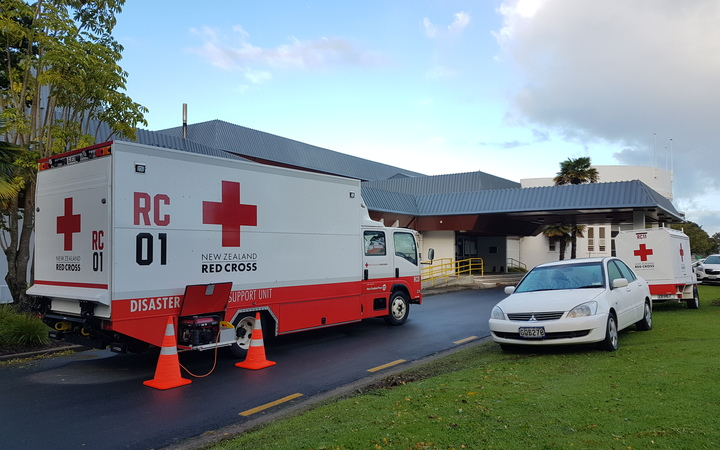 The Red Cross evacuation centre in Whakatane.
