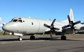 NZ Airforce Orion arrives back in Whenuapai after weeks spent searching for the missing Malaysian airliner